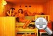 Im Bad die Sauna