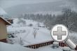 Winter, Blick v Balkon